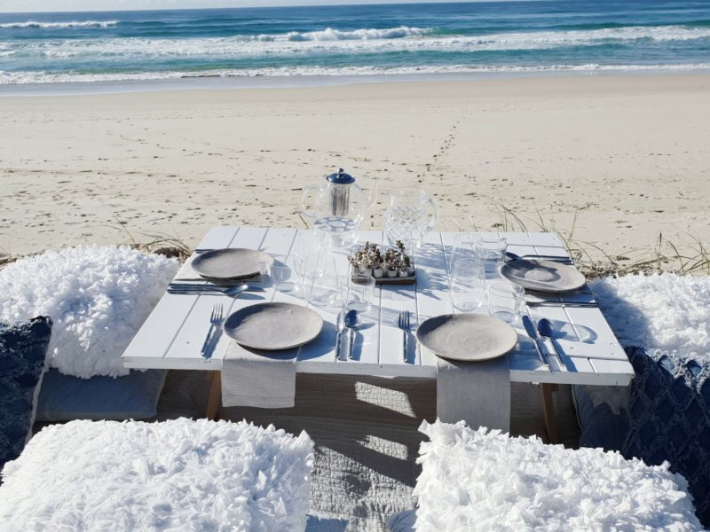 Beautiful setting for four guest to share time together at a relaxing and luxurious beach setting.