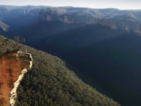 Hanging rock, Blue Mountains National Park. Photo: David Finnegan
