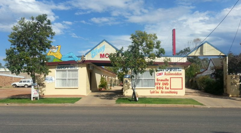 Entrance view to Bluey Motel