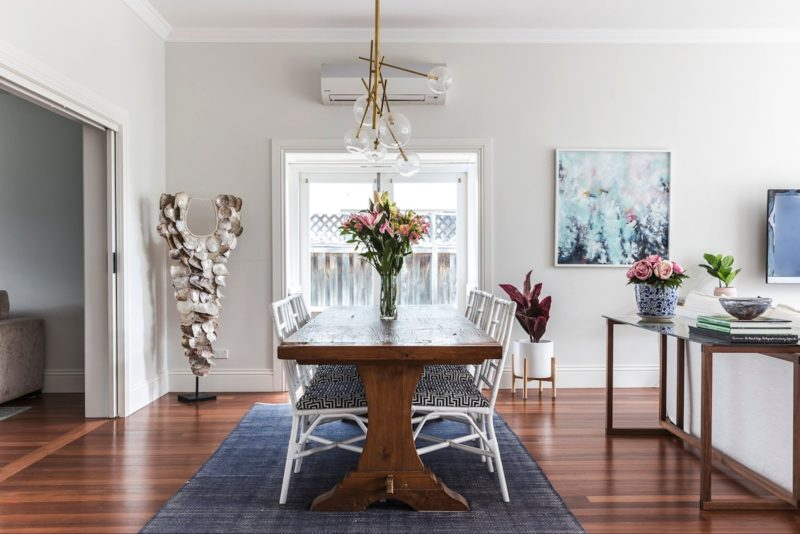 You'll love the formal dining area & its handcrafted table