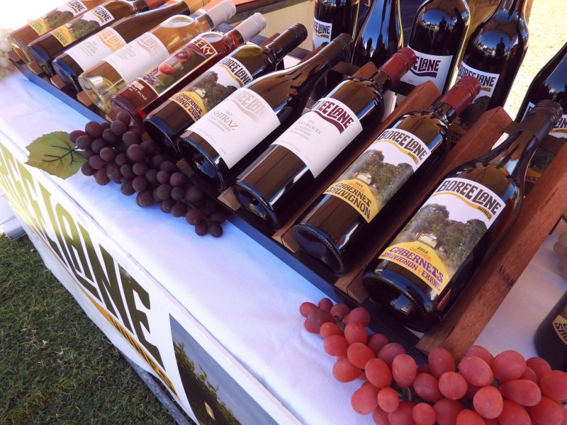 Our extensive selection of Boree Lane Wines at the Hunters Hil Food & Wine Festival