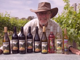 Bob showcasing the range of wines from the 2014 collection