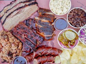 Meat platter with sides