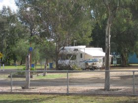 Caravan staying the night at the Brewarrina Caravan park