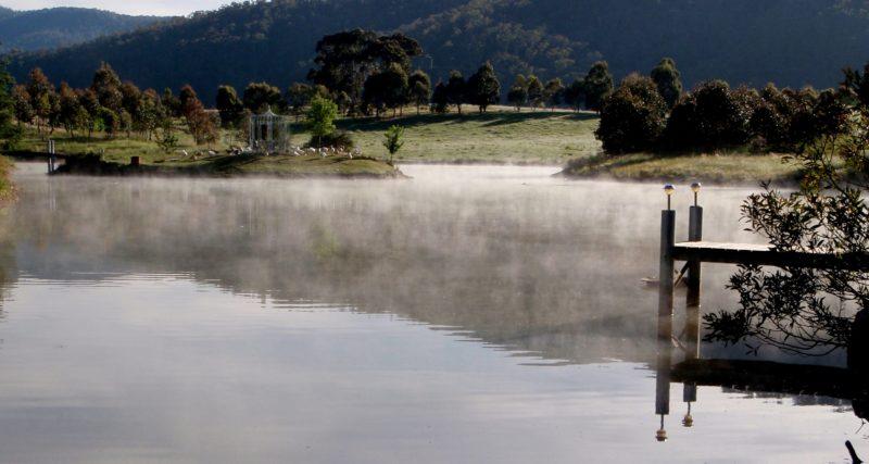 Mist on the dam
