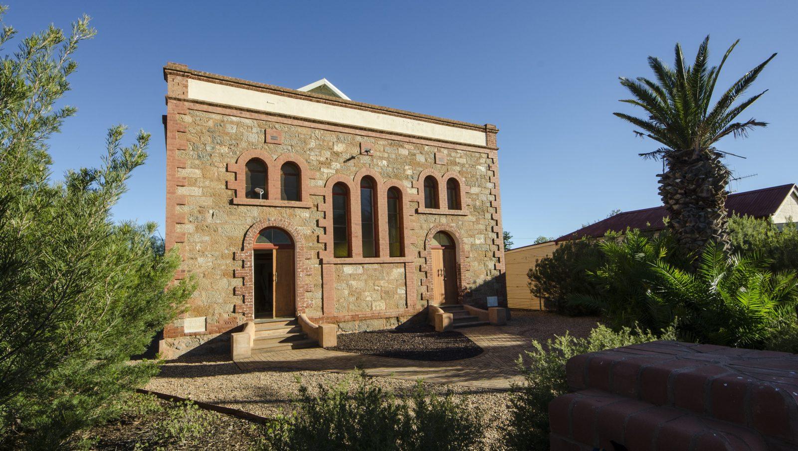 Original 1911 stone facade.