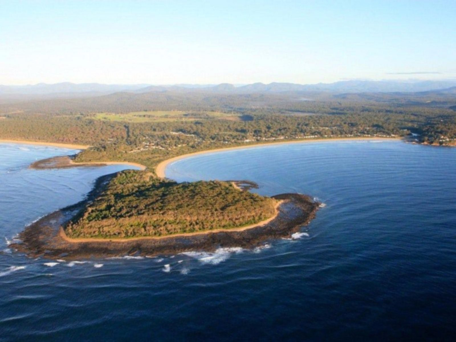 Broulee Island and beaches