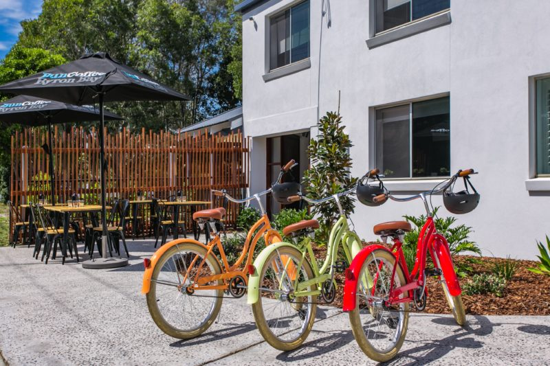 Bikes - Front of Motel