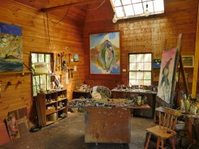 Arthur Boyd's studio at Bundanon Trust