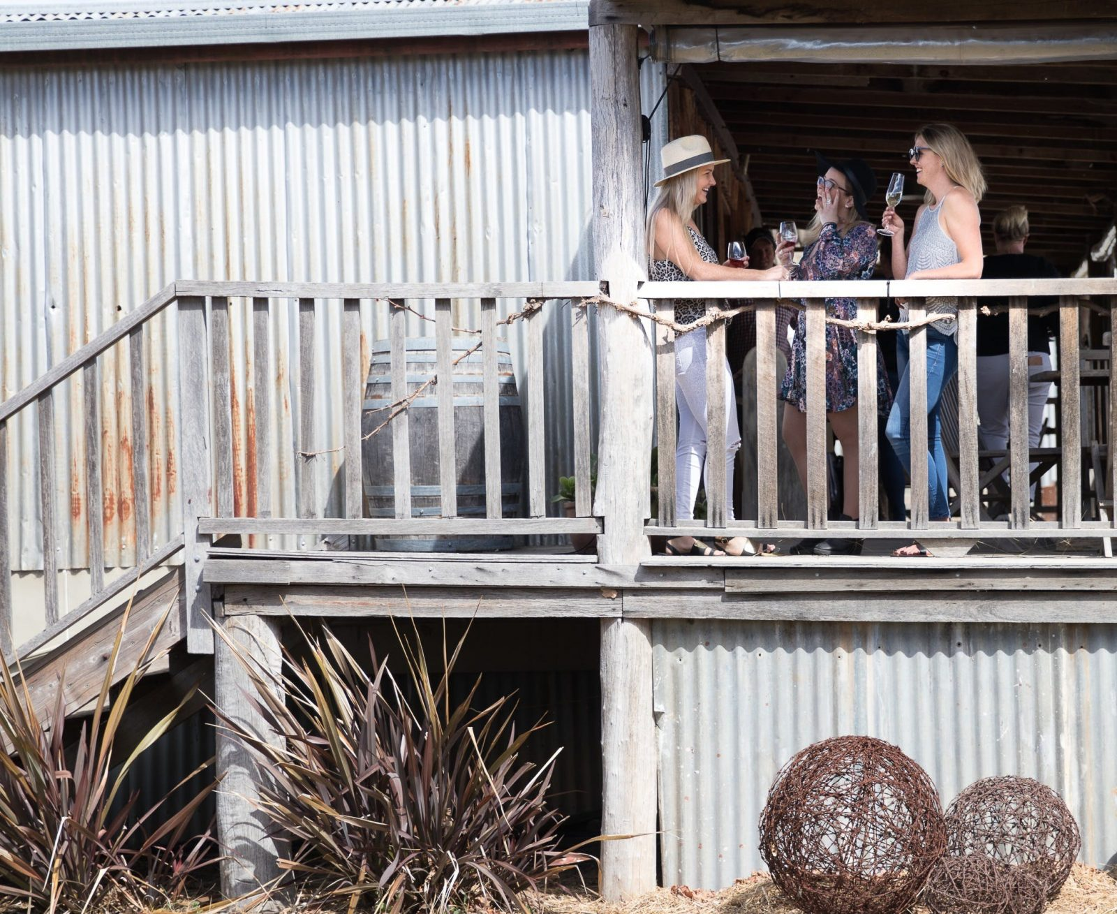 Burnbrae's rustic cellar door used to be an old dance hall