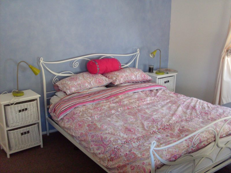 Two queen bed rooms and third room with three single beds
