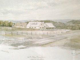 Drawing of Buss's Inn 1869
