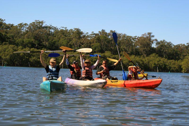 People Kayaking on the Brunswick River