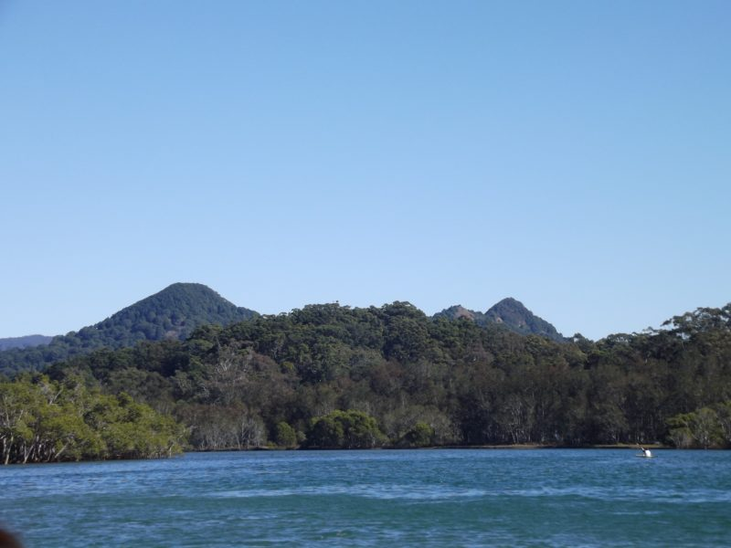 View over the river to Mt Chincogan
