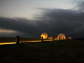 Campbelltown Rotary Observatory at dusk