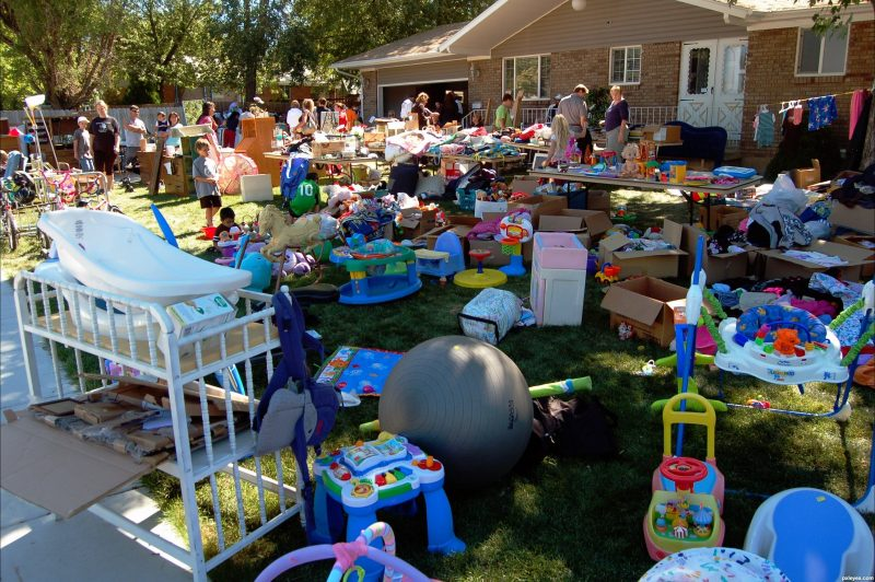 mixed yard garage sale