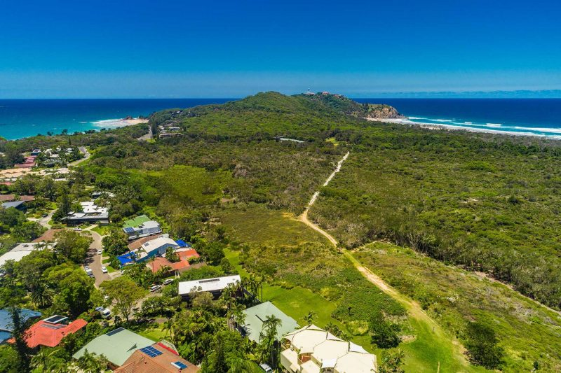 Cape Breeze - Byron Bay - Aerial Towards Cape Byron