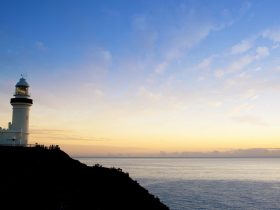 Cape Byron lighthouse at sunset, Byron Bay