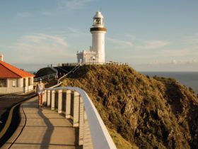 Cape Byron Lighthouse sitting on Australia's most easterly point, Byron Bay