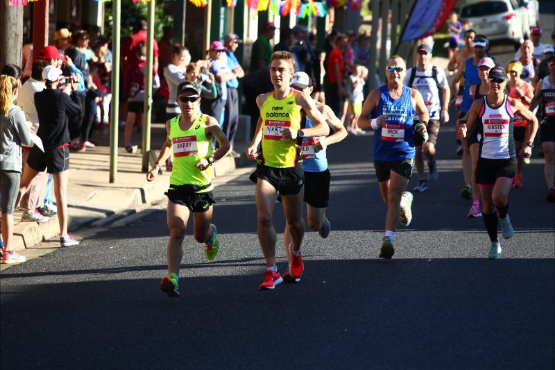 Olympian Martin Dent hits the lead in the Marathon