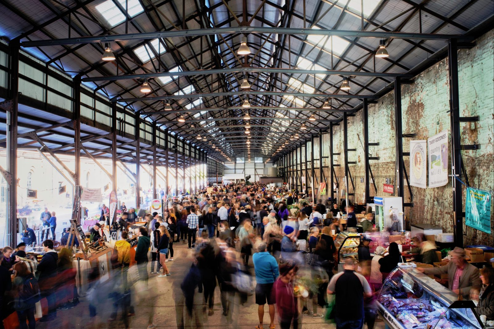 A busy market place at Carriageworks