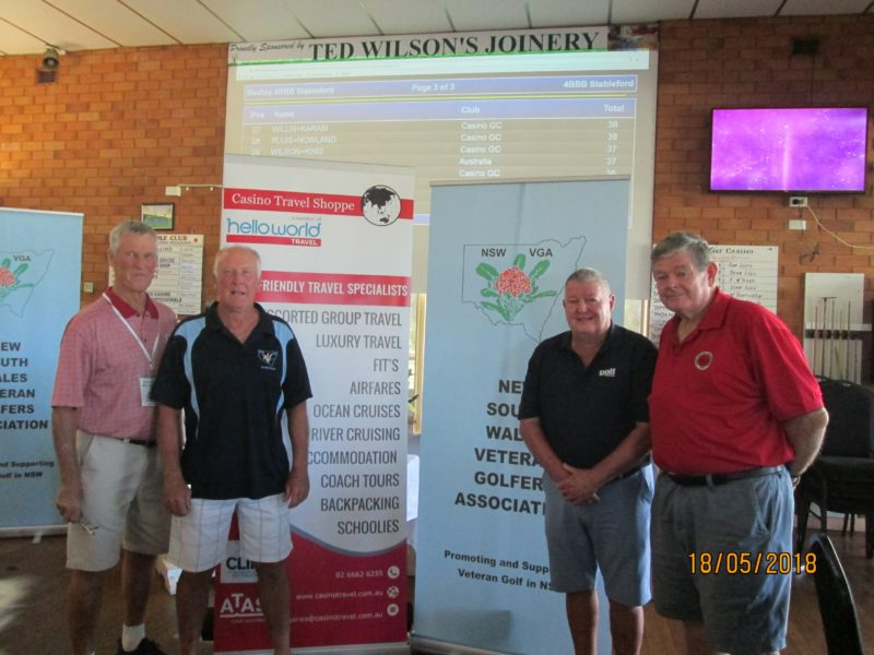 Also shown is Peter Taylor,Councillor and John Weaver, Tournament Director