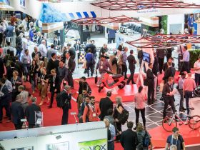 Buzzing exhibition showfloor at CeBIT 2017