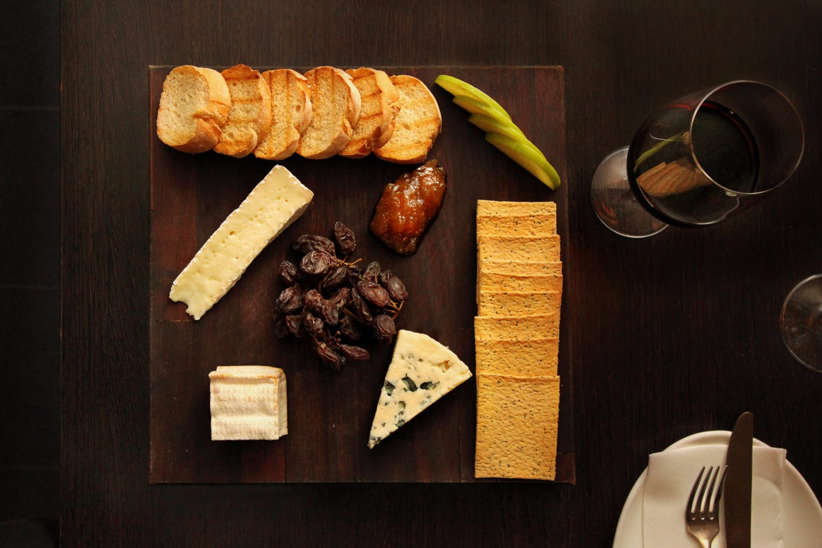 French Artisan Cheese and Antipasto Board at GPO Cheese & Wine Room