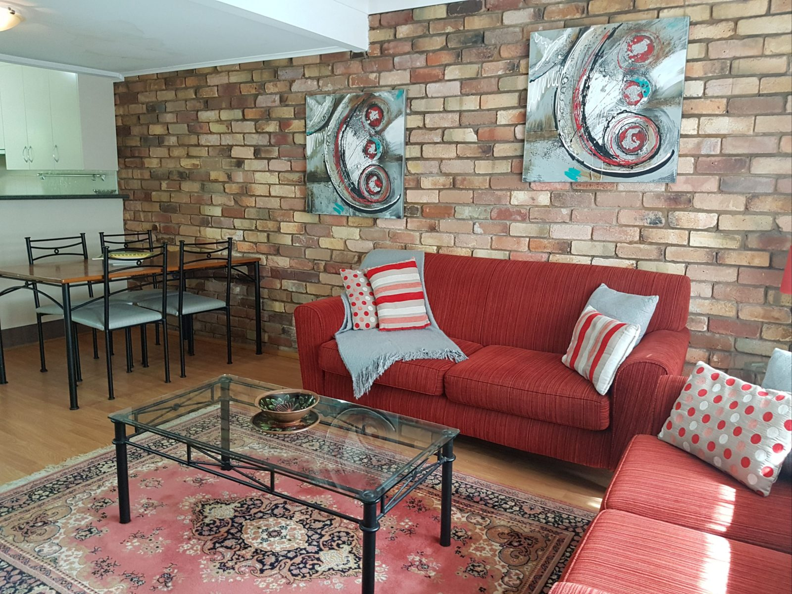 Living Room of the Deluxe Unit at Centennial Terrace Apartments
