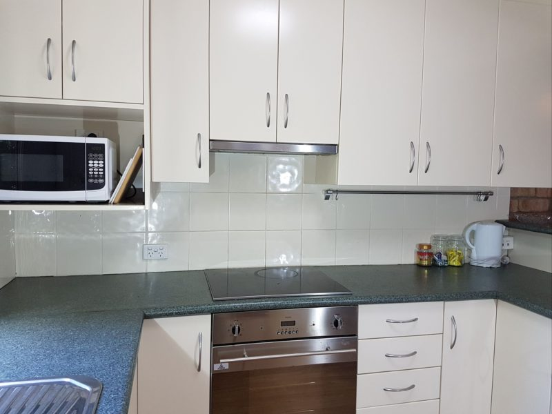 Kitchen of the Deluxe Unit at Centennial Terrace Apartments