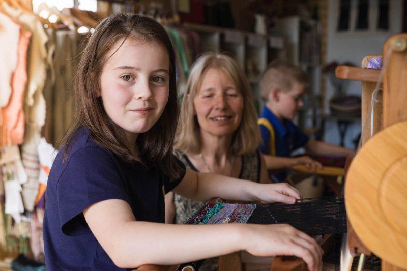 children's weaving class