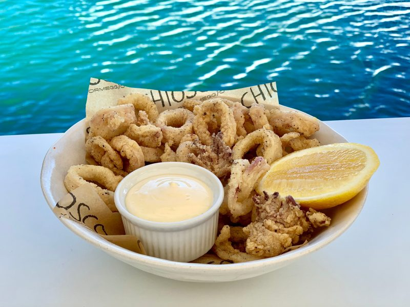 Souther calamari with lemon mayonnaise