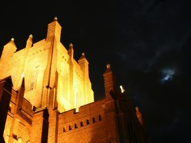 Christ Church Cathedral Newcastle by night