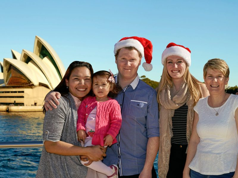Christmas in July on Sydney Harbour