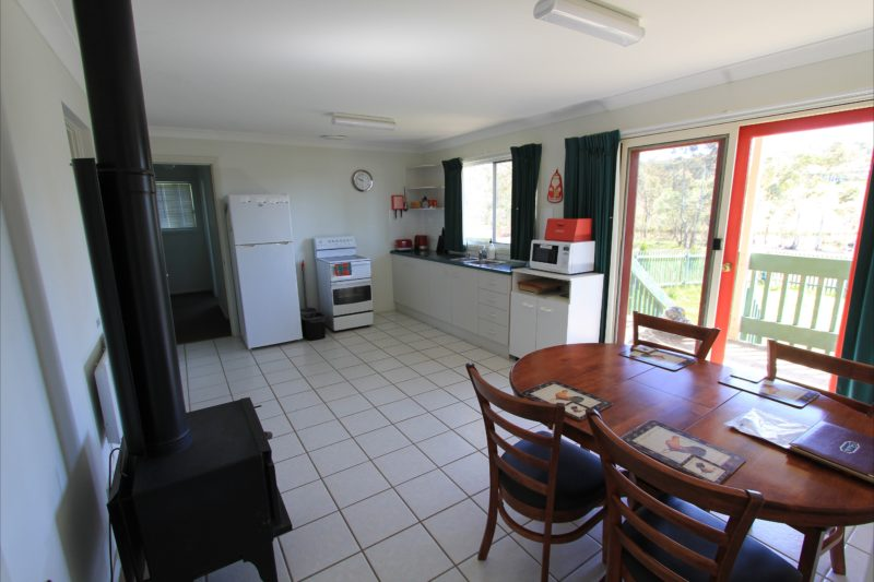 The kitchen and dining interior