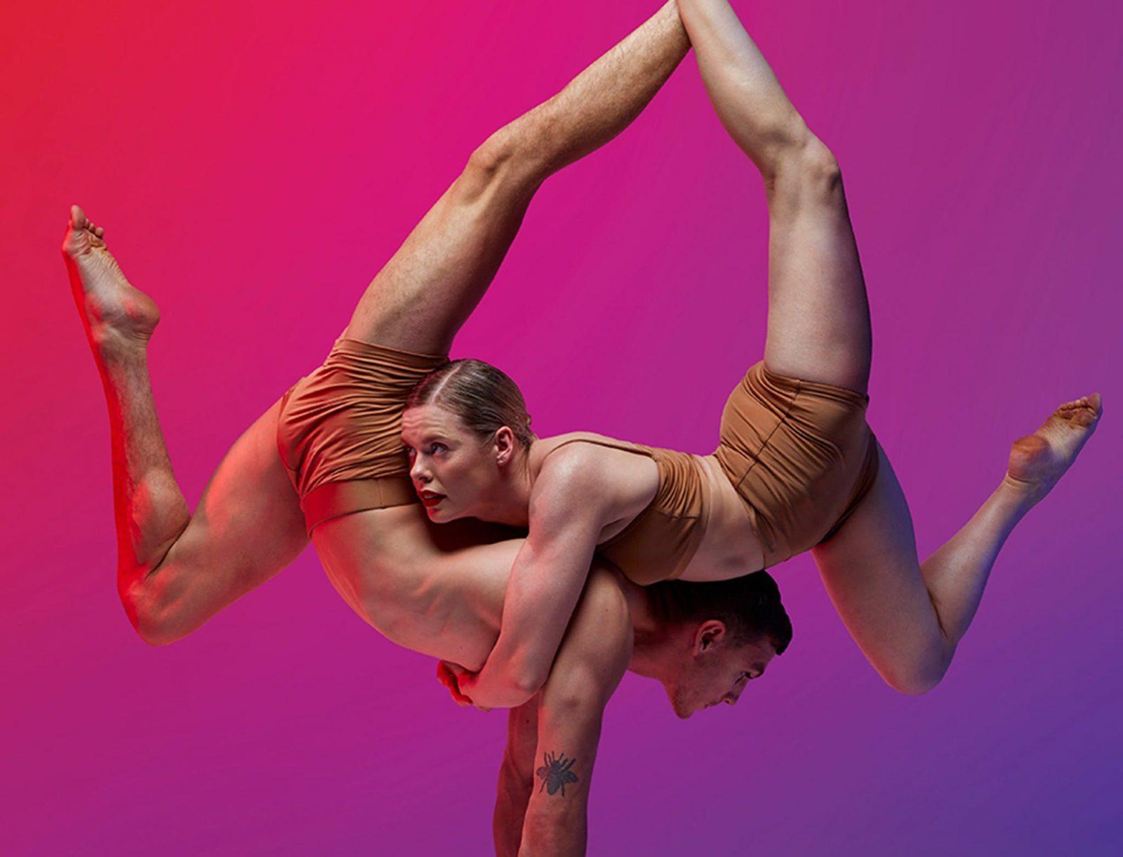 Man and woman acrobats