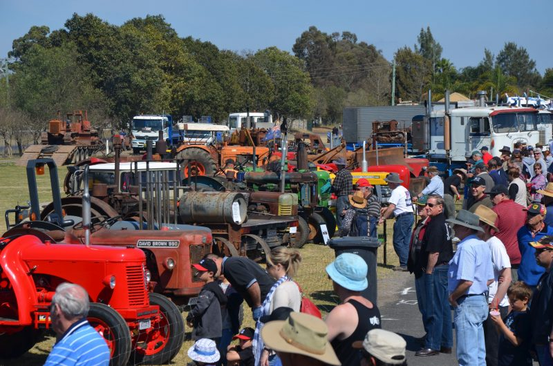 Clarendon Classic 2012 showing Tractor display and the crowds
