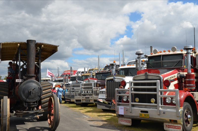 A few Steam traction engines, contrast the over 400 trucks expected