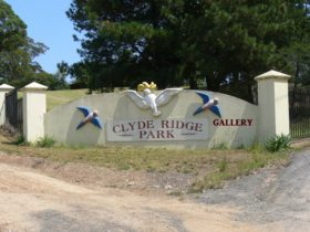 Clyde Ridge Park Gallery Milton, all the way on bitumen road.