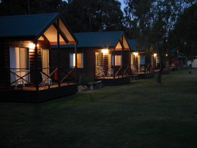Cottages on dusk