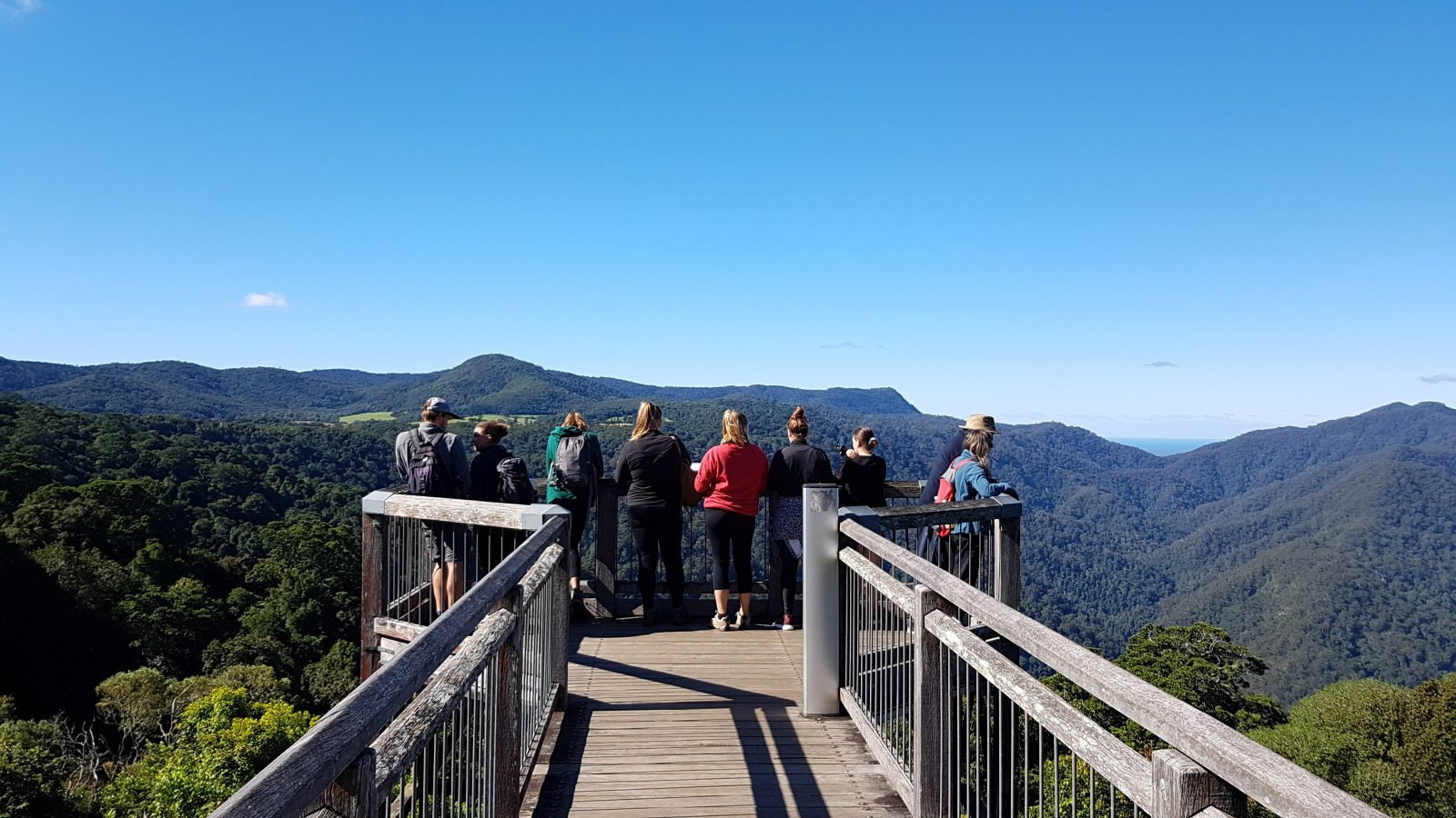 This Skywalk takes you above the canopy to view the spectacular National Park from above.