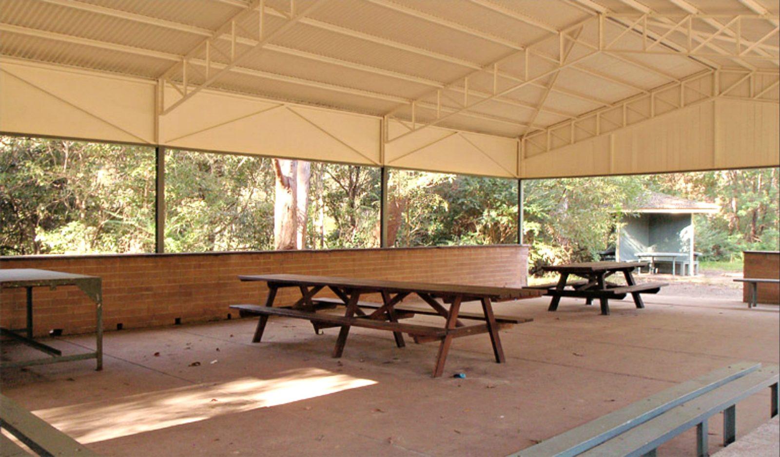 Commandment Rock picnic area shelter, Lane Cove National Park. Photo: Natalie Saville