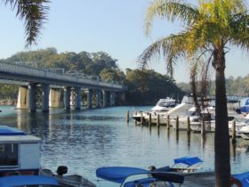 Boats, Bridge, River, Water, Nature