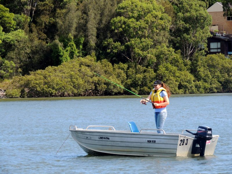 Fishing, Boat Hire, Runabout, River, Water, Nature