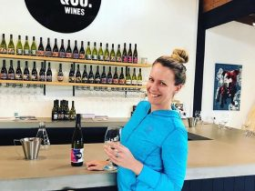 Drinking wine in your Active Wear