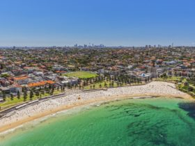 Aerial view of Coogee Beach
