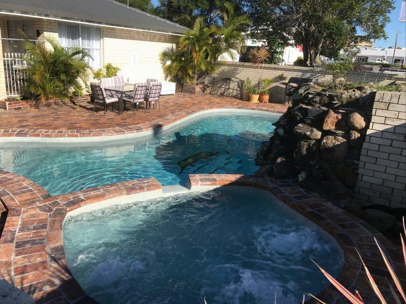 Pool Spa & BBQ Area