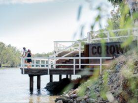 Corowa Fishing Platform on the Murray River