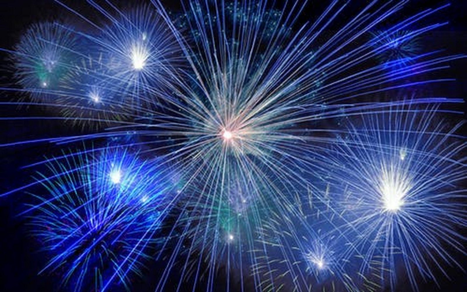 Picture of blue star shaped fireworks