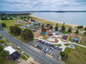 Aerial view of Corrigans Beach Reserve